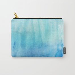 Ocean Waves Painted Surface Colorful Watercolor Carry-All Pouch