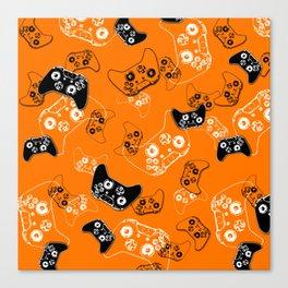 Video Game Orange Canvas Print