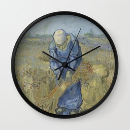 Peasant Woman Binding Sheaves (after Millet) Wall Clock