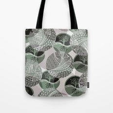 Zentangle and Tree Motifs in Circles Tote Bag