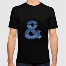 Cool Blue Jeans Denim Patchwork Design T-shirt