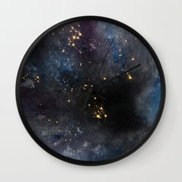 Dyed Cosmosity Wall Clock