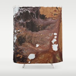 Copper abstract liquidity. Shower Curtain