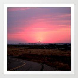 Sunset Versus Distribution Art Print