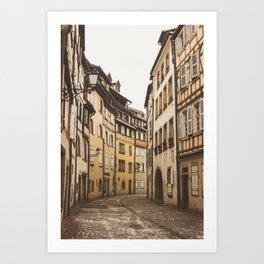 French Street in Colmar Art Print