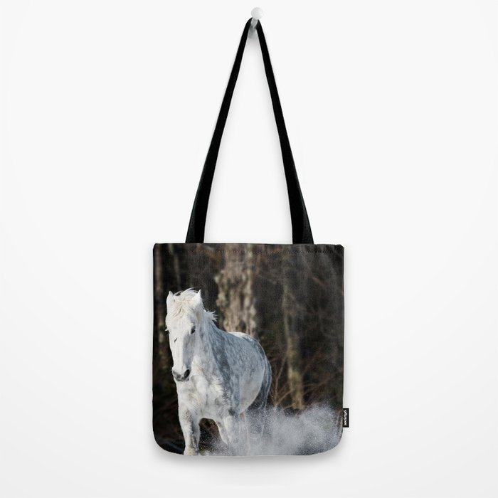 Tromping through the snow Tote Bag