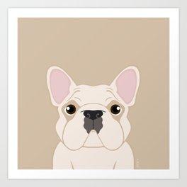 Frenchie - Cream Art Print
