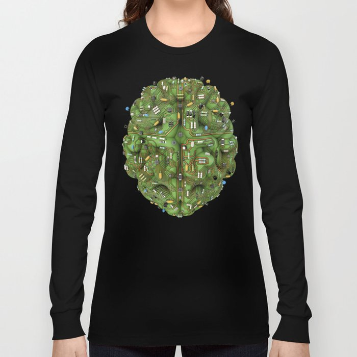 Circuit brain Long Sleeve T-shirt