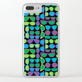 Sunglasses Pattern in Cool Colors Clear iPhone Case