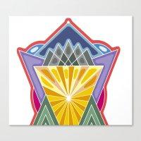 crown Canvas Prints featuring Crown by Losal Jsk