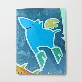 Eastside Gallery Berlin, when pigs fly! Metal Print