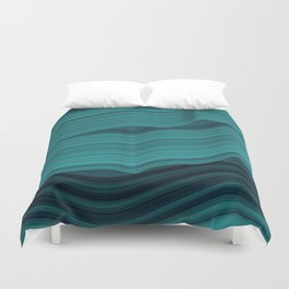 Blue waves Duvet Cover