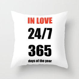 Non Stop Love Typography Print Throw Pillow