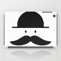 mustache iPad Cases featuring mustache by Artificial primate