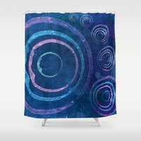 meditation Shower Curtains featuring Meditation by Sonia Marazia