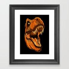 Geometric T-Rex Framed Art Print