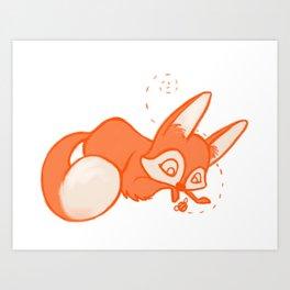 Curious Fox Art Print