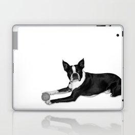 Fetch Boston Terrier B/W Laptop & iPad Skin