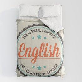 USA Official Language Comforters