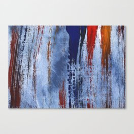 Red blue painting Canvas Print