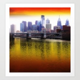 Philly Reflects Art Print