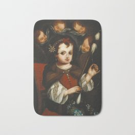Virgin Mary Spinning Bath Mat