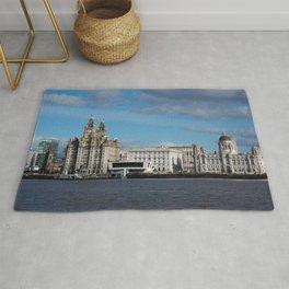 Liverpool Mersey Liver Building Rug