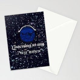 "Listening to my Nep""tunes""- Hxlxynxchxle Stationery Cards"