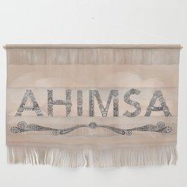 Beige Ahimsa Wall Hanging
