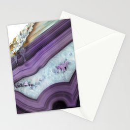 Purple Agate Slice Stationery Cards