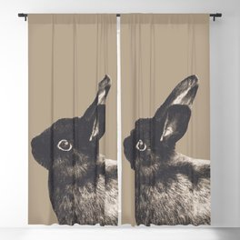 Little Rabbit on Sepia #1 #decor #art #society6 Blackout Curtain