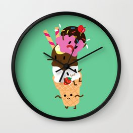 Neapolitan Ice Cream Wall Clock