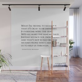 Sophie Quote Wall Mural