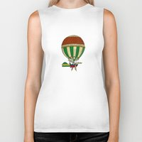 balloon Biker Tanks featuring Balloon by Janko Illustration