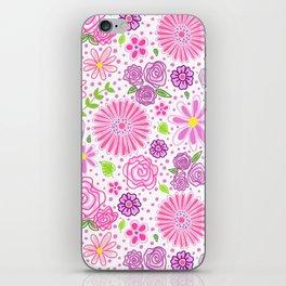 Happy Spring Flowers iPhone Skin