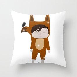 Foxie Boy Throw Pillow