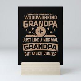 Woodworking Grandpa Circular Saw Woodworker Gift  Mini Art Print