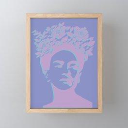 frida kahlo (purple version) Framed Mini Art Print