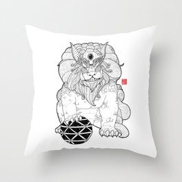 The First Shisa Throw Pillow