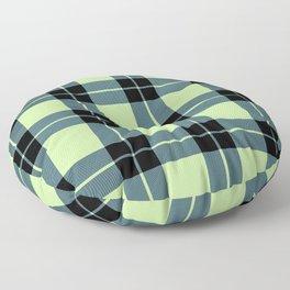 Green plaid Floor Pillow