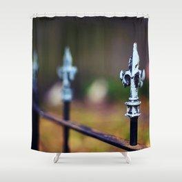 St. Louis Fleur de Lis Fence Shower Curtain