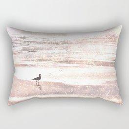 BIRD ON BEACH IN GOLDEN SNOW :) Rectangular Pillow