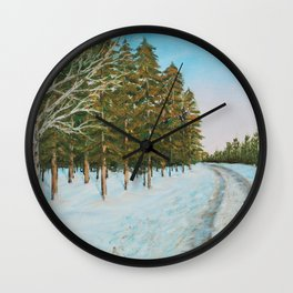 Frozen Path Wall Clock