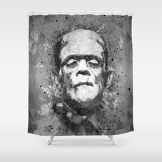 Frankenstein's Monster Abstract geometric Art Shower Curtain
