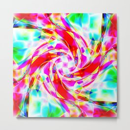 Abstract Volleyball Metal Print