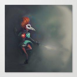 Bird of ill omen Canvas Print