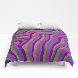 psychedelic zebra Comforters