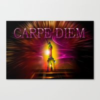 carpe diem Canvas Prints featuring Carpe Diem by Walter Zettl