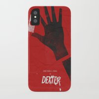 movie poster iPhone & iPod Cases featuring Dexter - Alternative Movie Poster by Stefanoreves