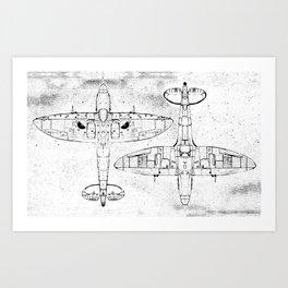 Spitfire Mk. XIV (Light) Art Print